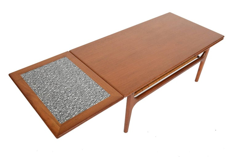 Danish modern teak extension coffee table for sale at 1stdibs for Extension coffee table