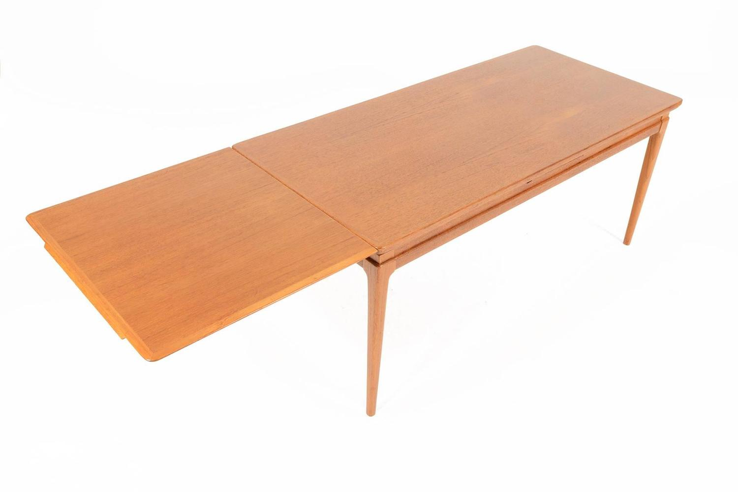 Danish Modern Extendable Coffee Table In Teak For Sale At 1stdibs