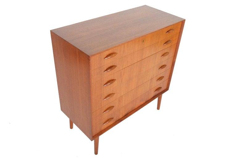 Johannes Sorth for Nexo Wide Teak Danish Modern Midcentury Dresser In Excellent Condition In Berkeley, CA