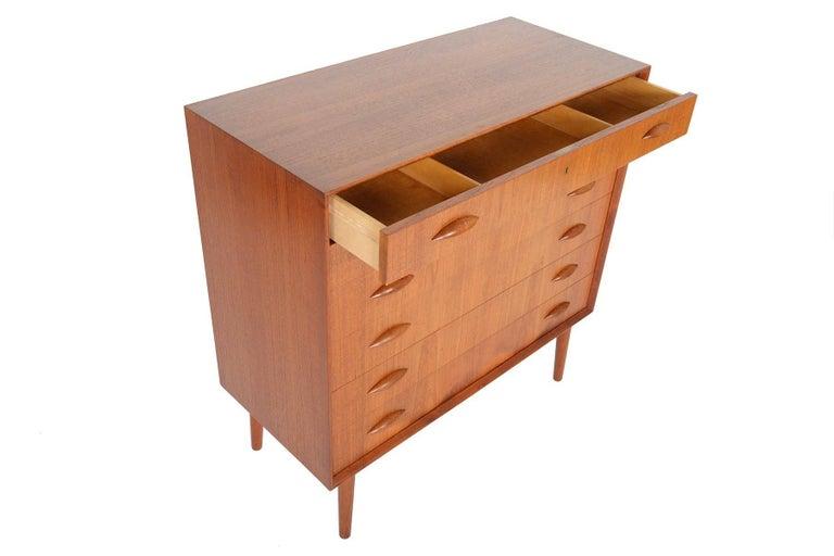 Mid-20th Century Johannes Sorth for Nexo Wide Teak Danish Modern Midcentury Dresser