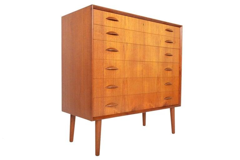 Johannes Sorth for Nexo Wide Teak Danish Modern Midcentury Dresser 2