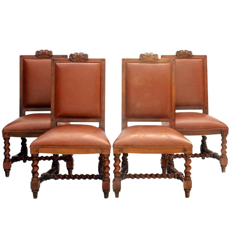 Four Dining Chairs By Ralph Lauren At 1stdibs