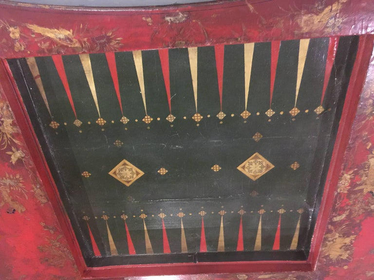 19th Century Chinoiserie Game Table For Sale 6