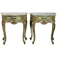 Italian Marble-Top Nightstands
