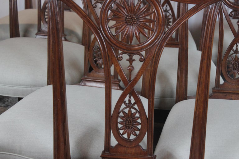 Mahogany Set of 10 Dining Chairs For Sale