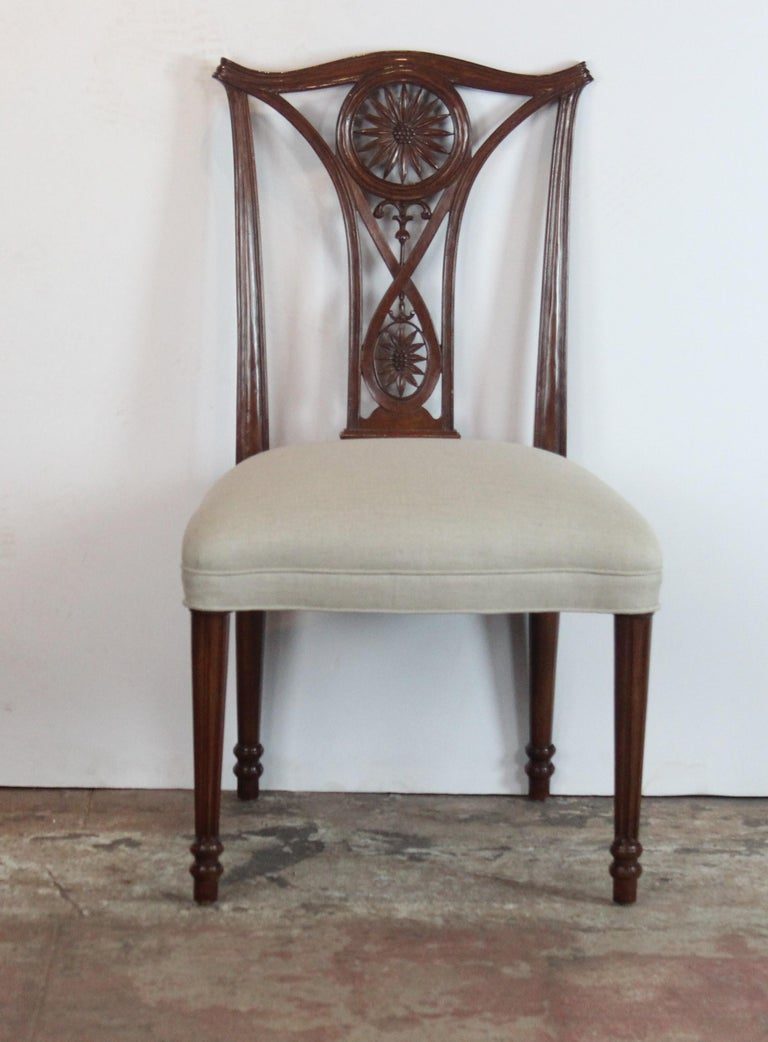 Set of 10 Dining Chairs For Sale 1