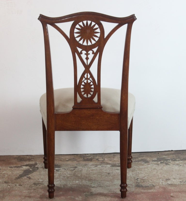 Set of 10 Dining Chairs For Sale 3