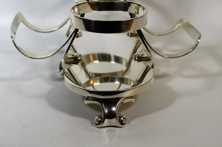 Tantalus Wine Cradle Attributed to Christopher Dresser by Hukin & Heath In Good Condition For Sale In Hamilton, Ontario
