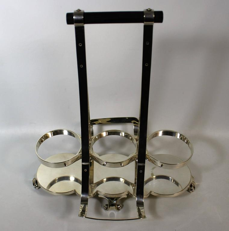Aesthetic Movement Tantalus Wine Cradle Attributed to Christopher Dresser by Hukin & Heath For Sale