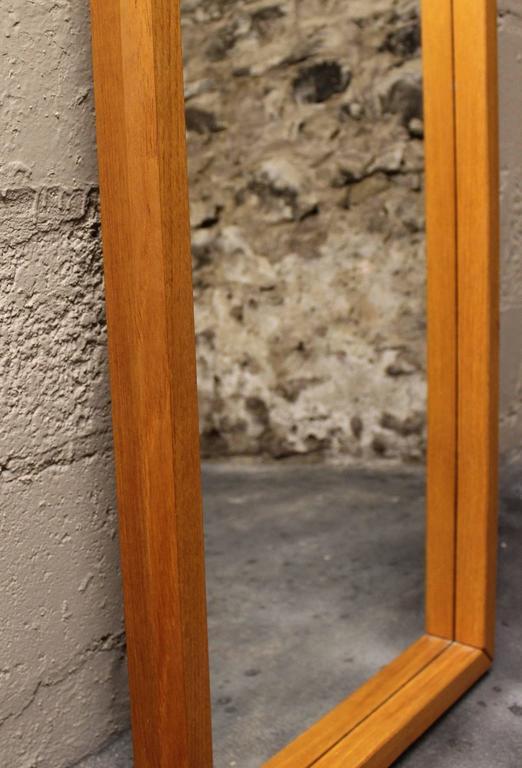 Danish modern teak mirror.  Mid-Century Modern / Scandinavian Modern