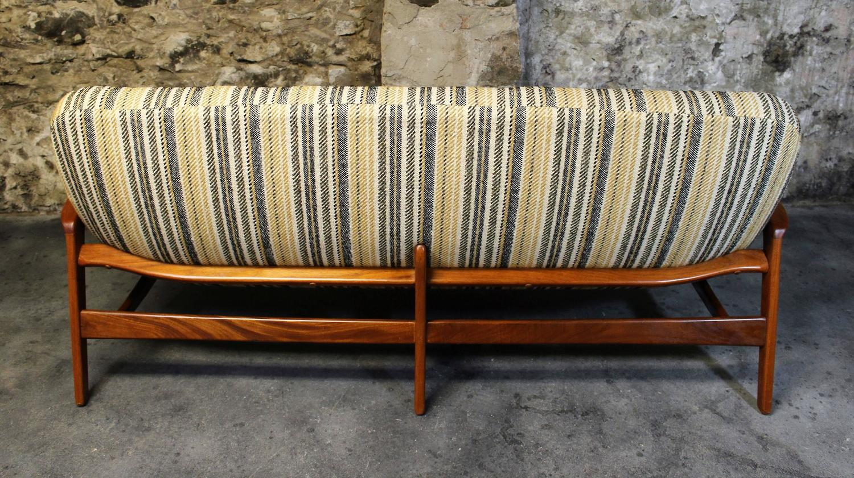 R Huber Teak Sofa Lounge Chair And Ottoman Danish Modern At 1stdibs