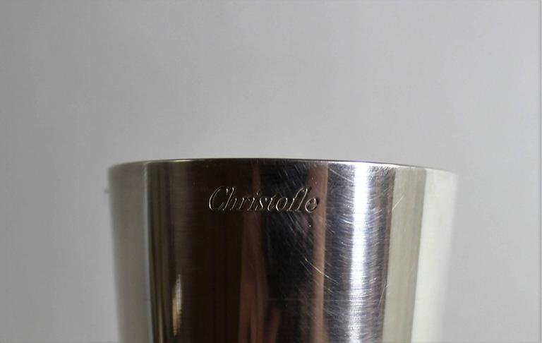 French Art Deco Christofle Silver Plate Bud Vase In Good Condition For Sale In Hamilton, Ontario