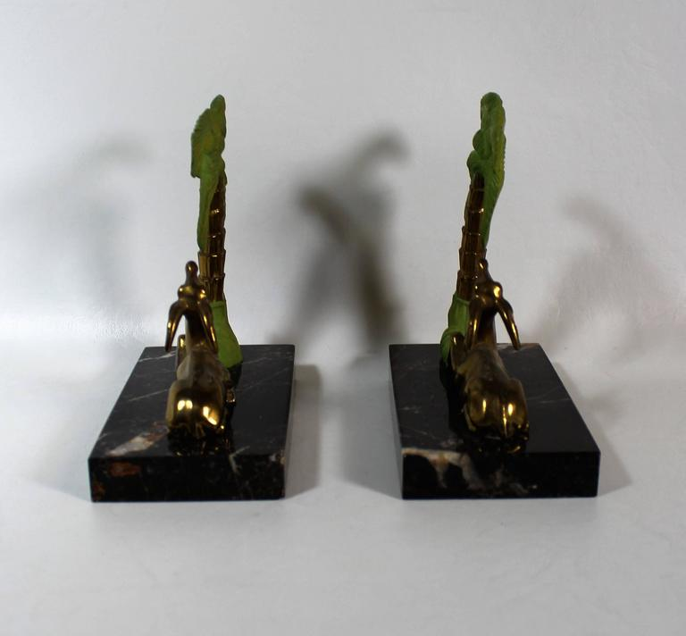 20th Century French Art Deco Antelope Bookends For Sale