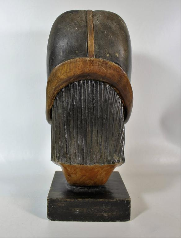 19th Century Native Yampara Carved Wood Bust/Sculpture In Good Condition For Sale In Hamilton, Ontario