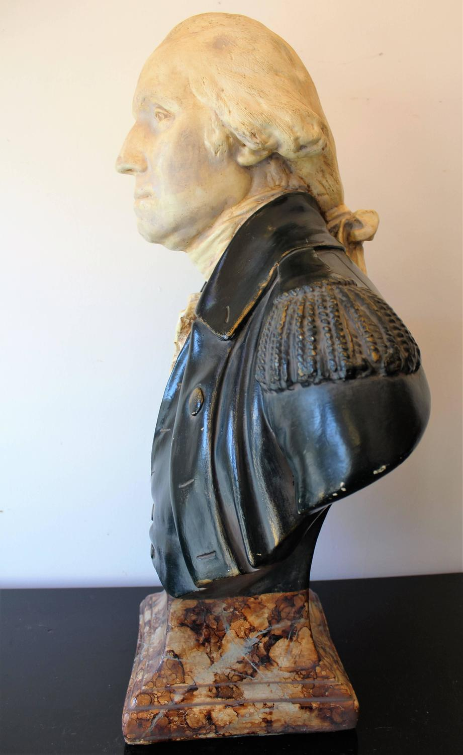 19th Century George Washington Plaster Bust For Sale At