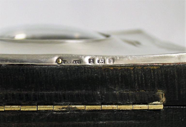 Short & Mason Barometer in Sterling Silver Case For Sale 3