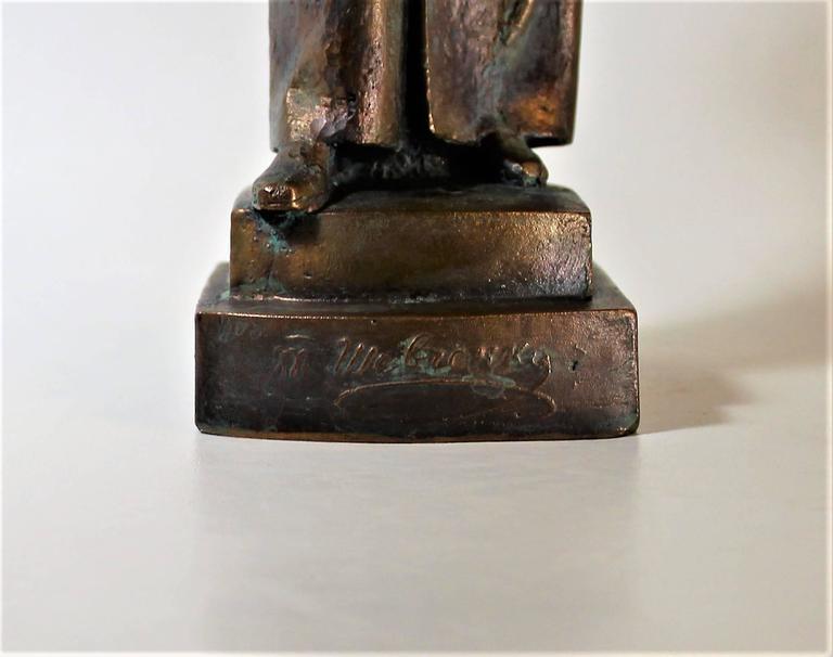 19th Century Bronze Sculpture of Ukrainian Taras Shevchenko For Sale 2
