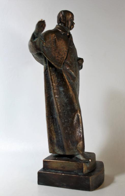 19th Century Bronze Sculpture of Ukrainian Taras Shevchenko In Good Condition For Sale In Hamilton, Ontario