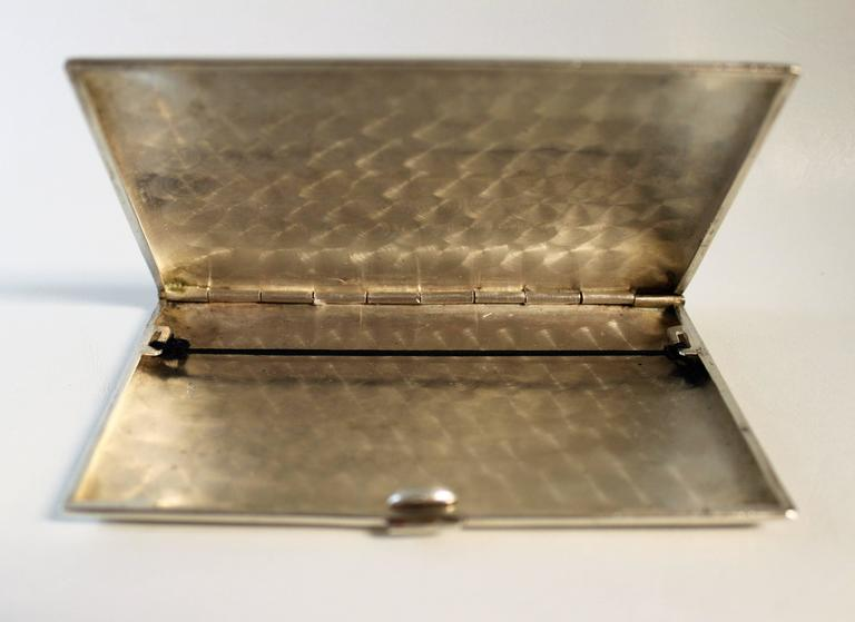 Indian Silver Cigarette Case of Taj Mahal For Sale