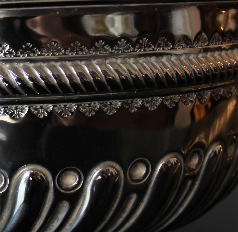Victorian Charles Stuart Harris Sterling Silver Presentation Bowl For Sale
