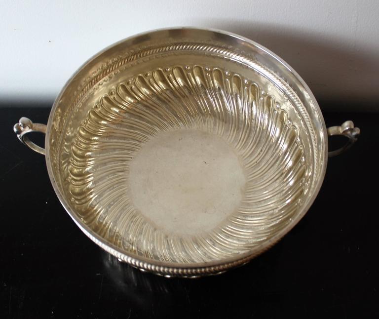 Charles Stuart Harris Sterling Silver Presentation Bowl For Sale 1