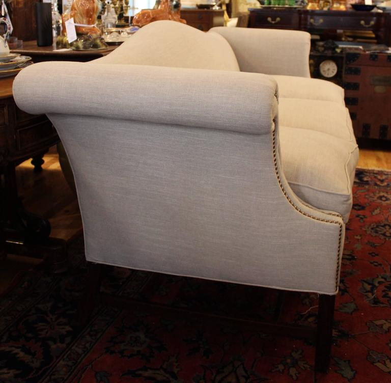Antique Camelback Chippendale Style Sofa At 1stdibs