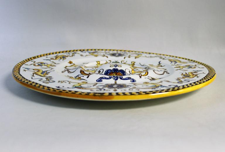 19th Century French Faience Charger Or Plate For Sale At