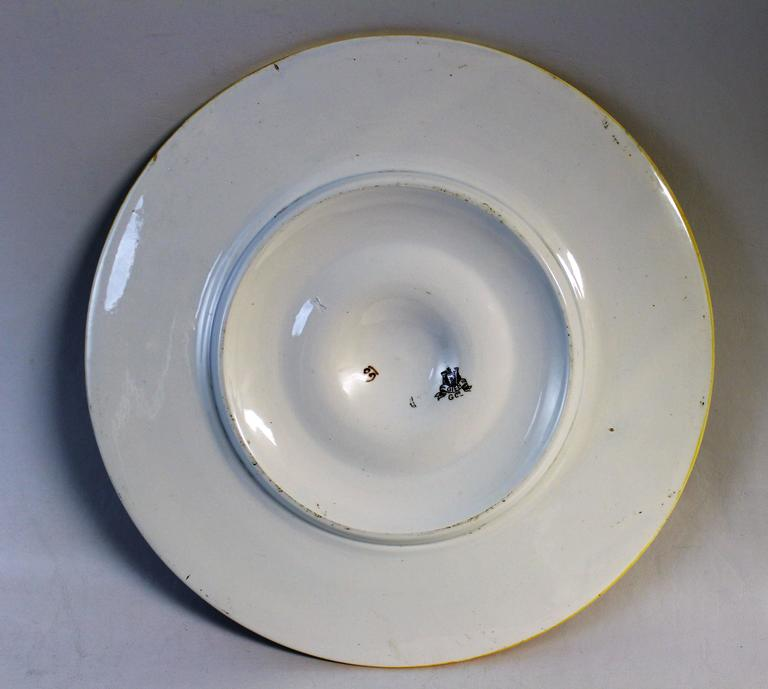 19th Century French Faience Charger or Plate For Sale 2