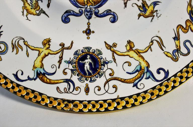 19th Century French Faience Charger or Plate In Good Condition For Sale In Hamilton, Ontario