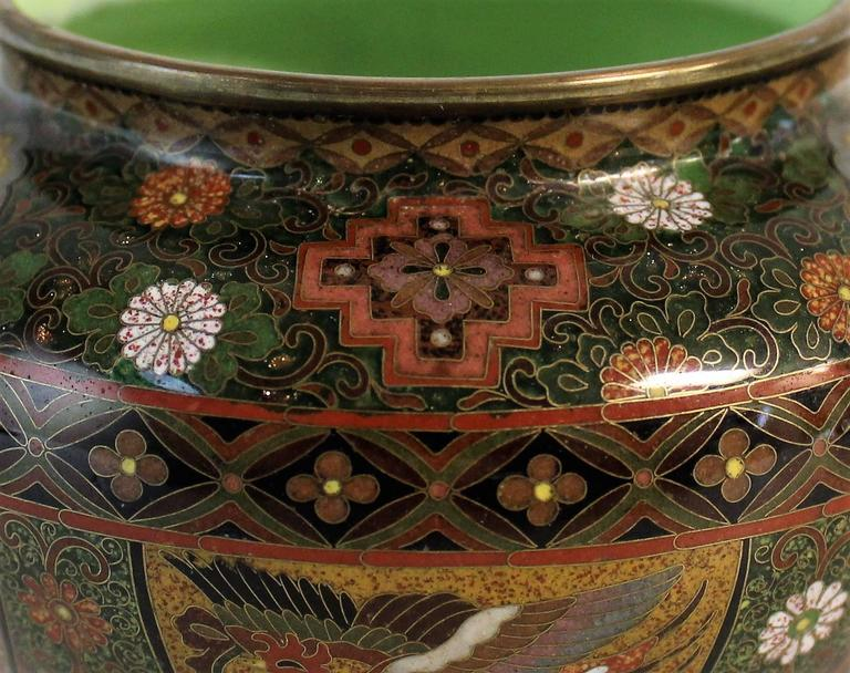Japanese Meiji Period Cloisonne Bowl For Sale 3