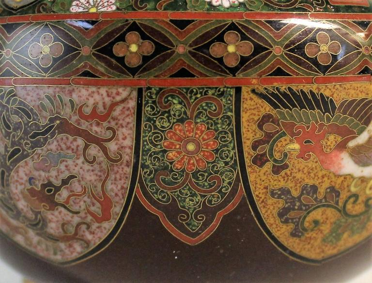 Japanese Meiji Period Cloisonne Bowl For Sale 4