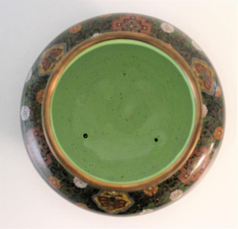 19th Century Japanese Meiji Period Cloisonne Bowl For Sale