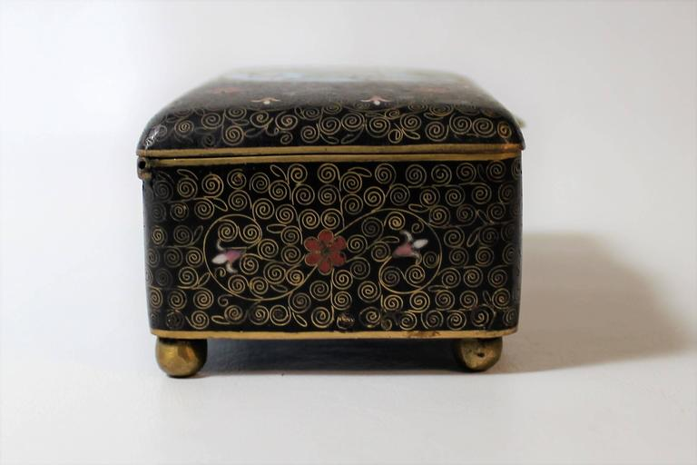 19th century chinese cloisonne decorative box for sale at 1stdibs. Black Bedroom Furniture Sets. Home Design Ideas