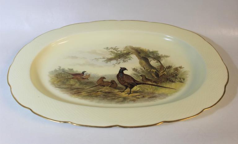 Royal Worcester porcelain platter with pheasants.