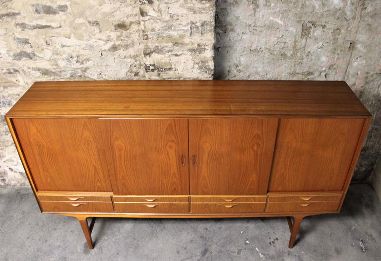 Danish Teak Credenza : Danish teak credenza or highboard for sale at stdibs