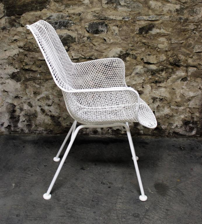 Four Russell Woodard Mid Century Modern Patio Chairs At