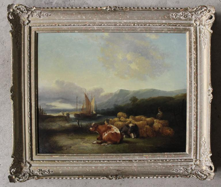 """William Shayer oil painting (English 1787-1879)  Size without frame: 18"""" high x 22 1/2"""" wide Size with Frame: 23 1/4"""" high x 27 1/4"""" wide  Biography  William Joseph Shayer, senior was a self-taught artist, who began by"""