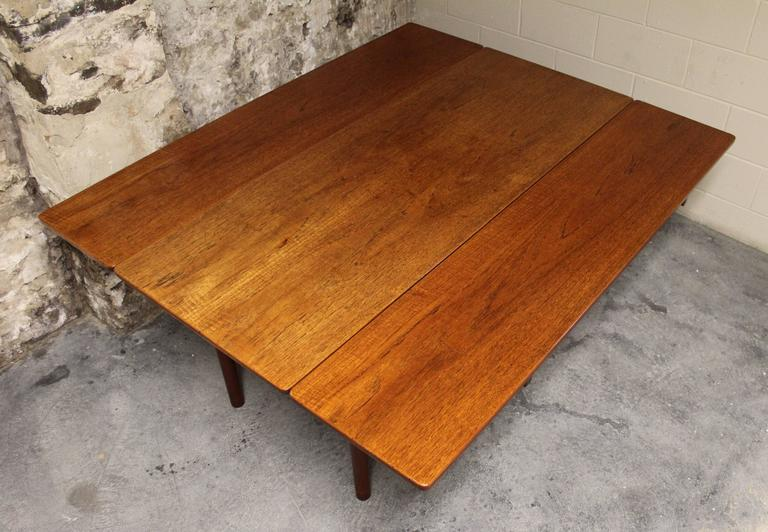 Børge Mogensen Danish Teak Fredericia Drop-Leaf Dining Table 7