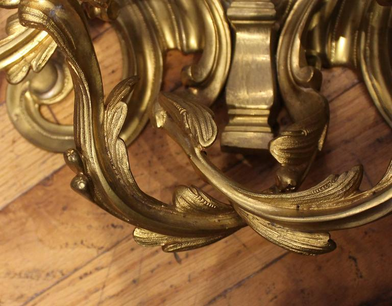 Pair of Louis XVI Style Gilt Bronze Wall Sconces For Sale 3