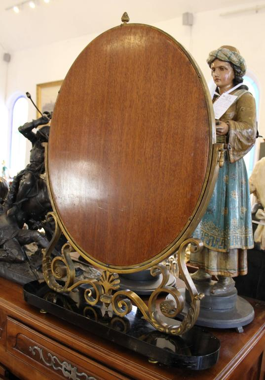 French Art Deco Bronze Table Mirror For Sale 4