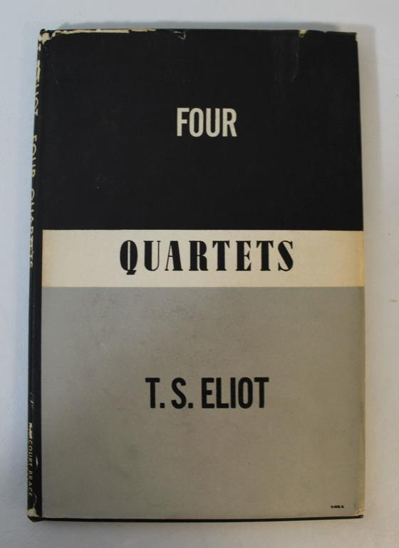 'Four Quartets' first edition book by T.S. Eliot New York Harcourt, brace and company, 1943.