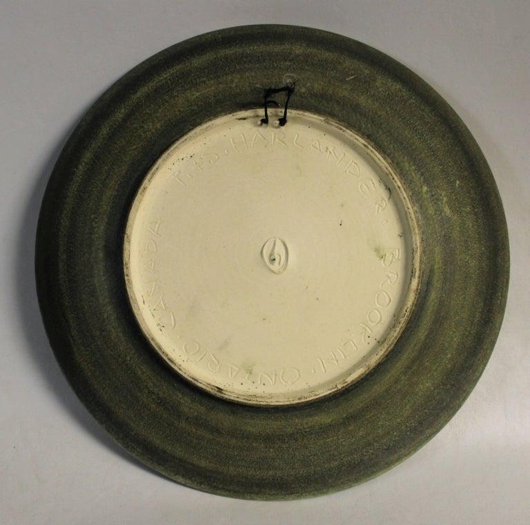Stunning Mid Century Modern Abstract Rare Susan Harlander Studio Pottery Plate.