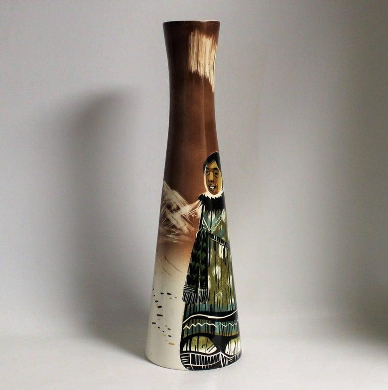 sascha brastoff ceramic eskimo vase for sale at 1stdibs