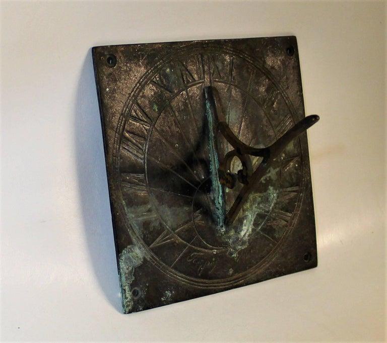 19th Century Bronze Sundial In Good Condition For Sale In Hamilton, Ontario