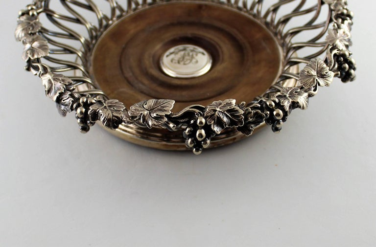 19th Century Set of Four Elkington Silver Plated Wine Coasters For Sale