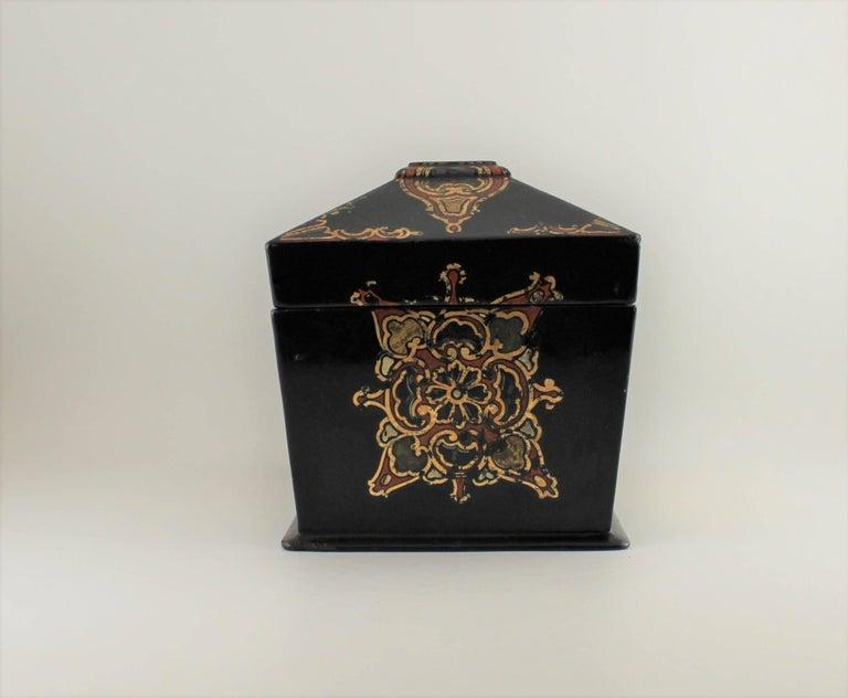 Jennens & Bettridge Papier Mâché Tea Caddy In Good Condition For Sale In Hamilton, CA