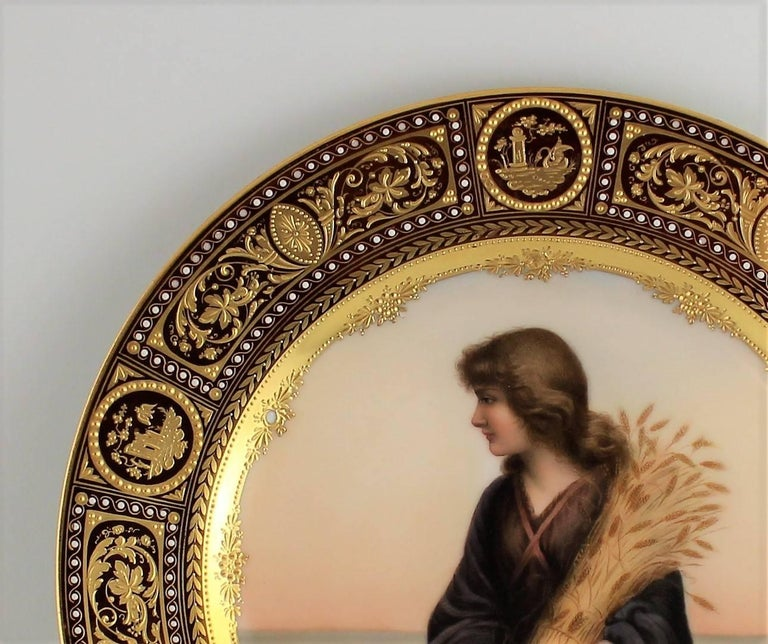 Royal Vienna style porcelain charger.