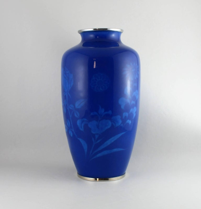 Japanese Wireless Cloisonne Vase For Sale 3