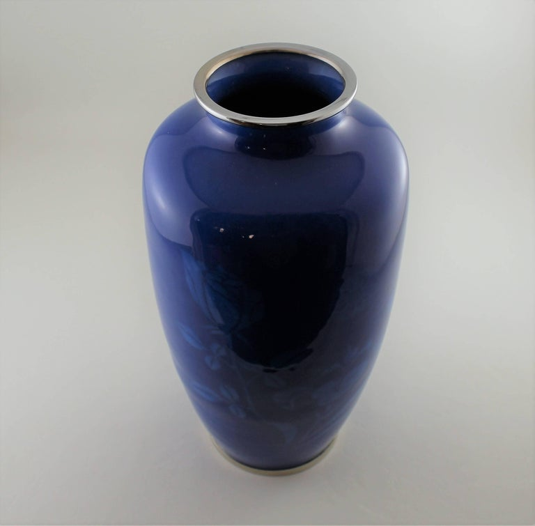 Japanese Wireless Cloisonne Vase For Sale 4