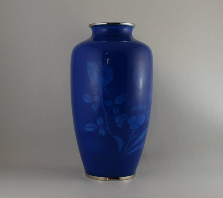 Japanese Wireless Cloisonne Vase For Sale 1